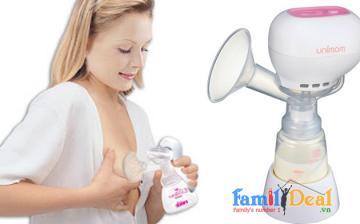 Máy hút sữa bằng điện Unimom Allegro BPA free (có mátxa silicon)